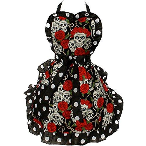 Hemet Skulls and Roses Full Apron