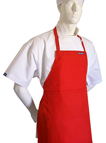 CHEFSKIN Red Chef Apron w Fully Adjustable Neck Straps Size 6x