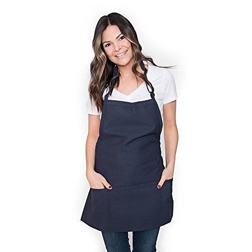 Premium Chef Three Pocket Apron 3 Pockets Great for Restaurants Bistros Chefs Baker Servers Waitress Waiter Craftsmen Navy