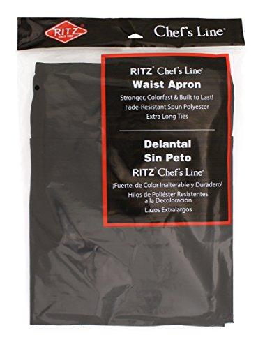 Ritz CL3PWACBK 4 Pocket Bib Serving Apron Black Pack of 12