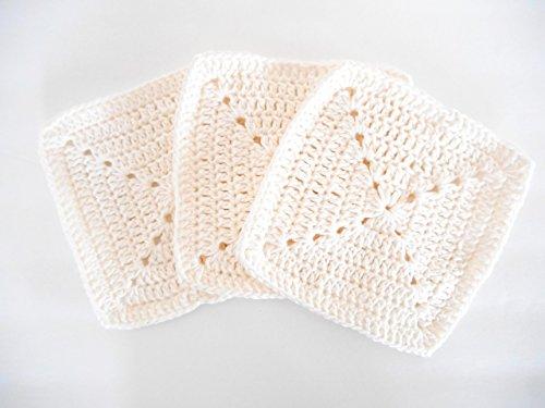 Crochet Kitchen Dishcloths Set of Three
