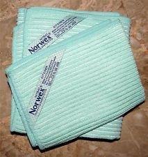 Norwex Antibacterical Antimicrobial Microfiber Kitchen Cloth Kitchen Towel Set Sea Mist