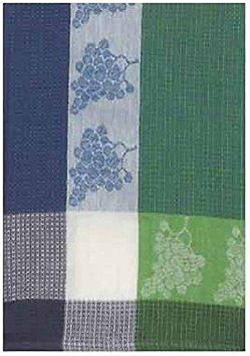 100 Cotton Green Blue 20x28 Dish Towel Set of 3 - Grapes Violet