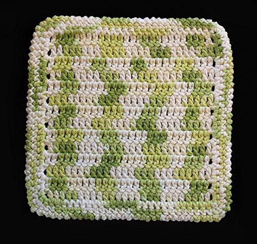 100 Cotton Dishcloth Washcloth Color Key Lime Pie