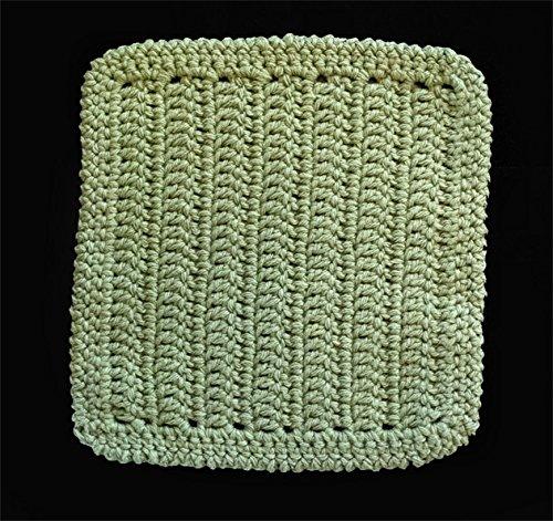 100 Cotton Dishcloth Washcloth Color SAGE