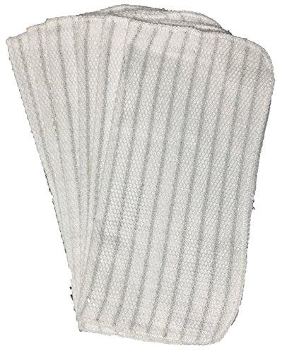 12 Pcs 100 Cotton Dishcloths with scrubber Size  12 x 12 Design 5