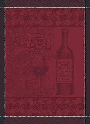 Garnier-Thiebaut Foire Aux Vins Wine FairWine Festival French Jacquard KitchenTea Towel
