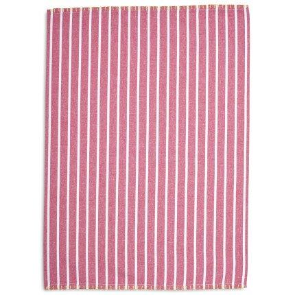 Sur La Table Striped Kitchen Towel 28 x 20 Pink