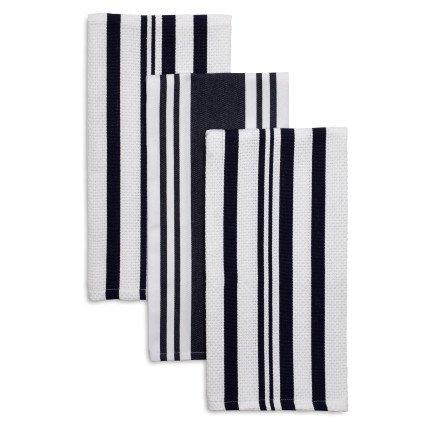 Sur La Table Striped Kitchen Towels 28 x 20 Set of 3 Rouge