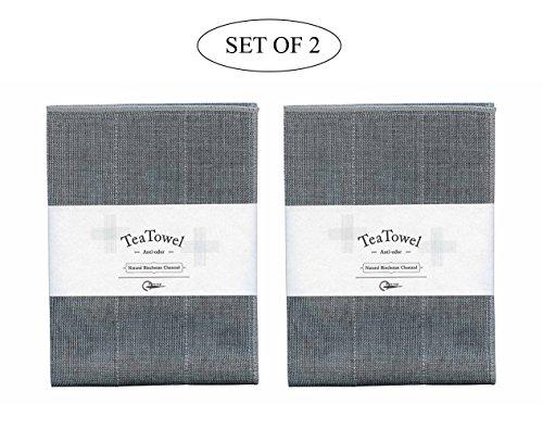Nawrap Binchotan Tea Towels Set of 2 Naturally Anti-Odor 135 x 27