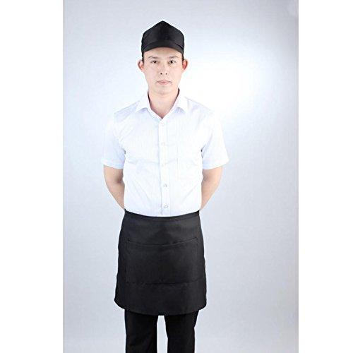 Black Professional Chef Apron for Server Waiter Waitress Cafe Kitchen