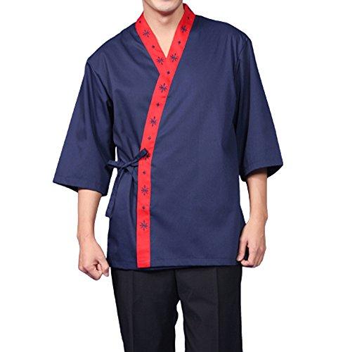 Blue Chef Jackets Coat Sushi Restaurant Bar Clothes Uniform Japanese Women Men D