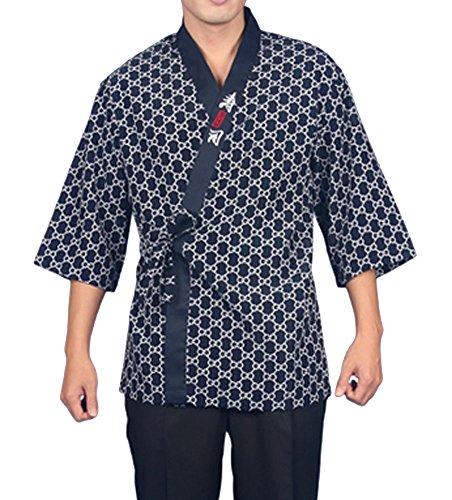 Chef Coat Jacket Sushi Restaurant Bar Japanese Clothes Uniform 4 size Women Men C