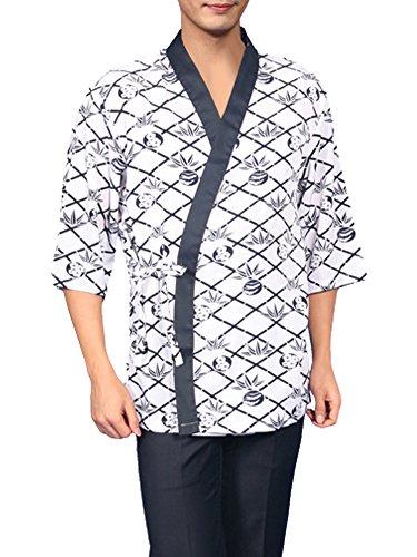 Chefs Coats Jackets Sushi Restaurant Bar Clothes Cook Uniforms 4 Sizes Women Men B