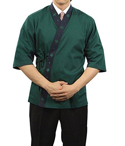 Green Chef Jackets Coat Sushi Restaurant Bar Clothes Uniform Japanese Women Men D