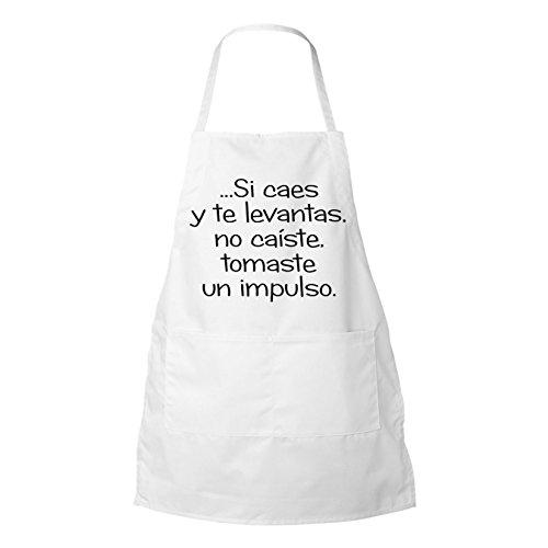 Si Caes Y Te Levantas No Caiste Inspirational personalized BBQ Apron white