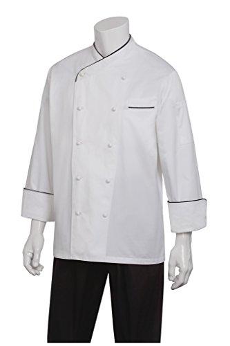 Chef Works Mens Monte Carlo Executive Chef Coat ECCB