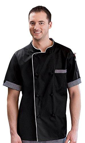 Short Sleeve Executive Chef Coat Black 2X