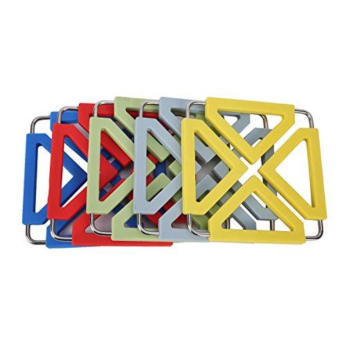 5pcs Silicone Metal Trivet Mat 5pcs-MultiColor