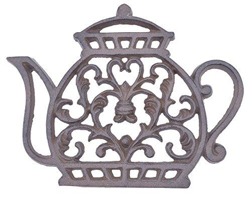 Decorative Cast Iron Trivet Ornate Tea Kettle 725