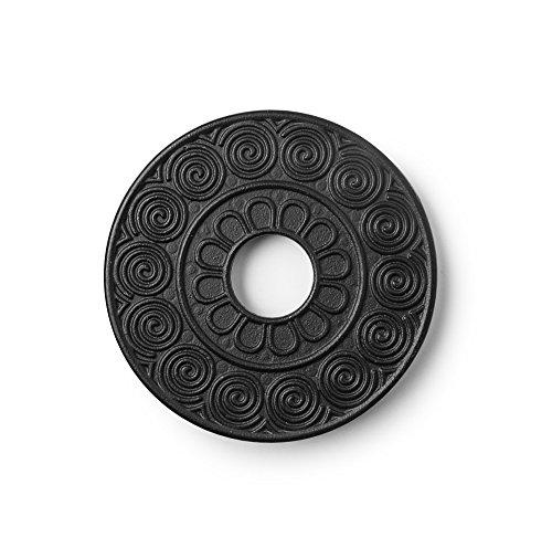 Ibili Teapot Cas Iron Trivet Java Black 14 x 2 x 14 cm
