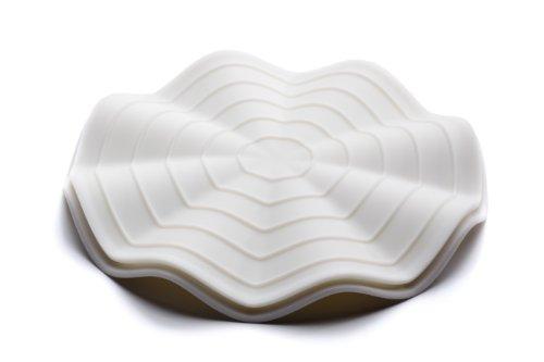 Fusionbrands HeatWave 2 piece Trivet Hot Pad Silicone Pot Grip  White