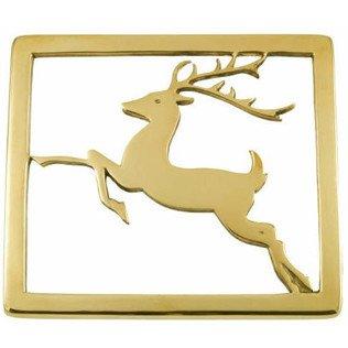 Jefferson Brass Reindeer Trivet Lacquered