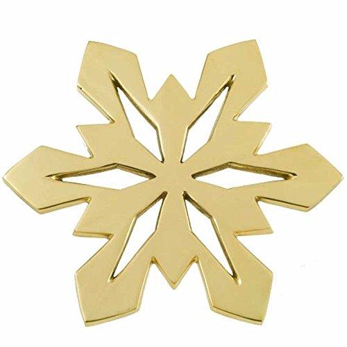 Jefferson Brass Snowflake Trivet