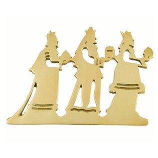 Jefferson Brass Three Wisemen Trivet Lacquered