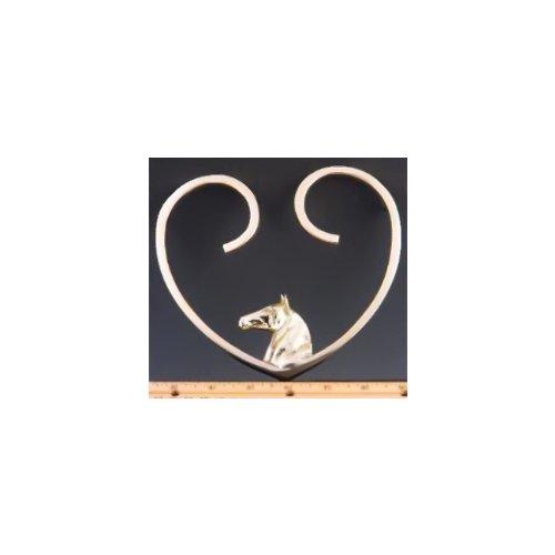 Mayer Mill Brass Horse Heart Trivet