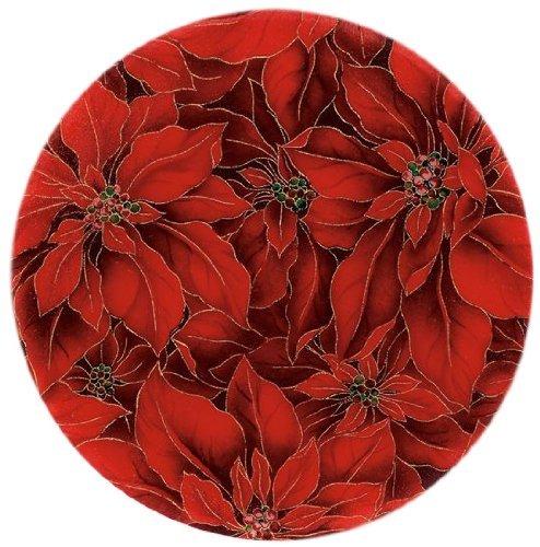Andreas Silicone Trivet Poinsettia 10 Inch