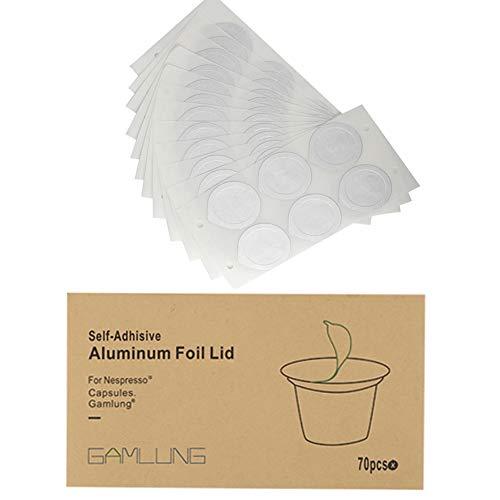Gamlung Aluminum Foil Lids for Nespresso Caposules Pds Reusable and Disposable Nespresso Capsules Pods 280pcs