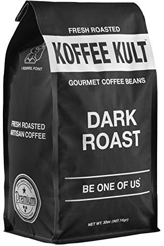 Koffee Kult Dark Roast Coffee Beans - Highest Quality - Whole Bean Coffee - Fresh Coffee Beans 32oz