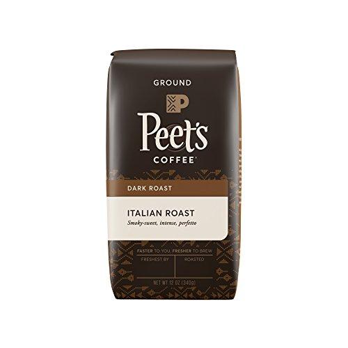 Peets Coffee Italian Roast Ground Dark Roast 12-Ounce bag