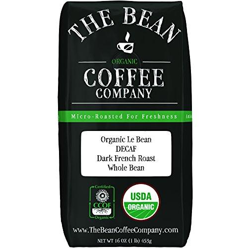 The Bean Coffee Company Organic Decaf Le Bean Dark French Roast Whole Bean 16-Ounce Bag