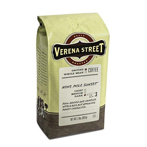 Verena Street 2 Pound Ground Coffee Dark Roast Nine Mile Sunset Rainforest Alliance Certified Arabica Coffee
