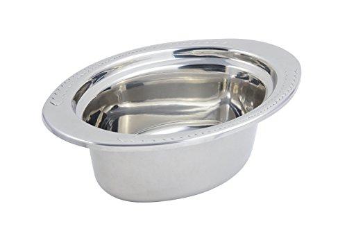 Bon Chef 5403 Heavy Gauge Hi Polished Stainless Steel Full Oval Pan Laurel Design 3-34 quart Capacity 13-18 Length x 8-78 Width x 4-14 Height