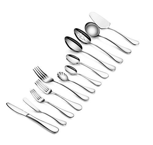 Artaste 56440 Rain 1810 Stainless Steel 47 Piece Flatware Set Service for 8 Silver
