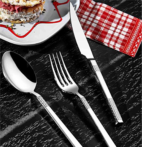 Flatware set by OLINDA 1810 Stainless Steel Silverware sets Restaurant Quality at great value Heavy duty tableware set 20 piece spoons and forks set Alev