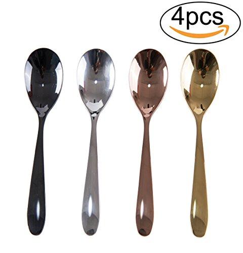 Penta Angel 4PCS Stainless Steel Teaspoons Dinner Tableware Soup Spoons Mini Coffee Tea Fruit Dessert Spoon 4 Colors