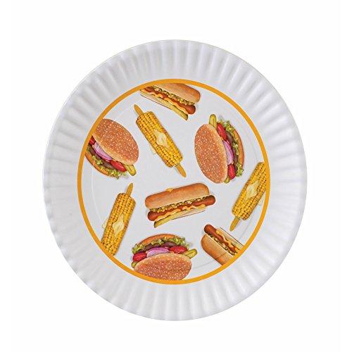 BBQ Picnic 16-inch Large Melamine Serving Platter