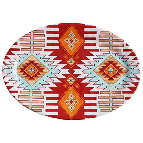 HiEnd Accents DI5002SP01 1 Piece Southwest Melamine Serving Platter 20