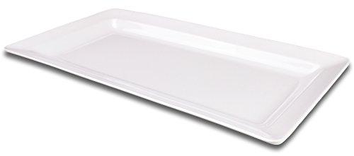 Rectangular Melamine Serving Platter Tray 145 x 75 by bogo Brands White
