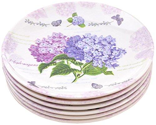 Shall Housewares International 8872H 6 Piece Melamine Serving Platter Hydrangea