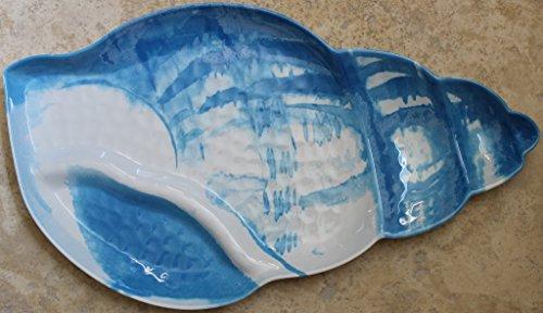 Tommy Bahama Seashell Blue Teal 100 Melamine Serving Platter - 1825 x 105