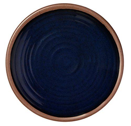 Melange 6-Piece 100 Melamine Dinner Plate Set Clay Collection   Shatter-Proof and Chip-Resistant Melamine Dinner Plates  Color Navy