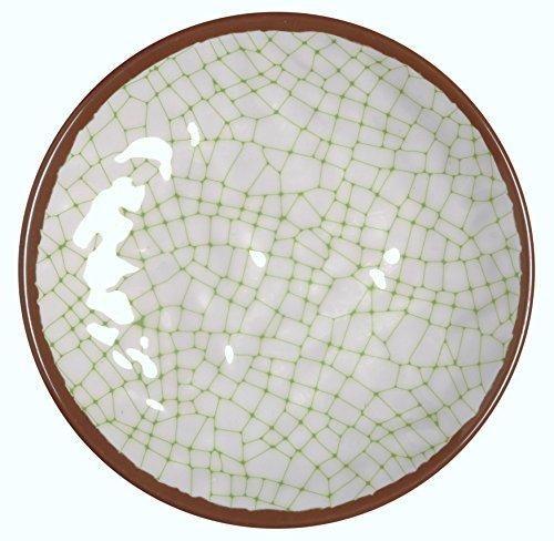 Melange 6-Piece 100 Melamine Dinner Plate Set Hammered Checks Collection   Shatter-Proof and Chip-Resistant Melamine Dinner Plates  Color Lime