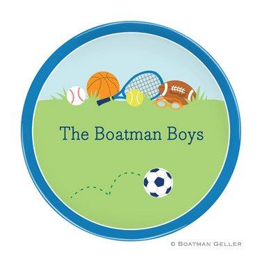 Personalized Melamine Plate - Sports Boy