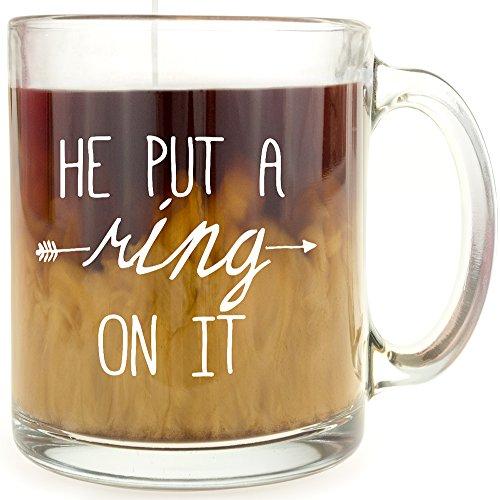 He Put A Ring On It - Glass Coffee Mug