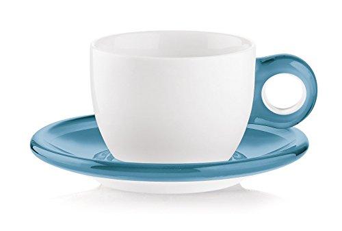 Guzzini Gocce Cappuccino Cups 10-Fluid Ounces Set of 2 Sea Blue